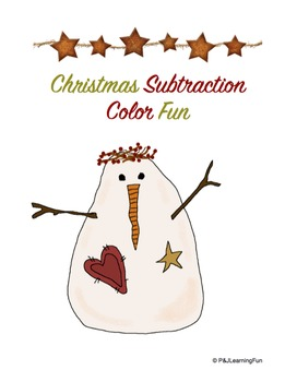 Christmas Subtraction Color Fun