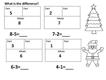 Christmas Subtraction Concepts