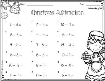 Christmas Subtraction *FREEBIE*
