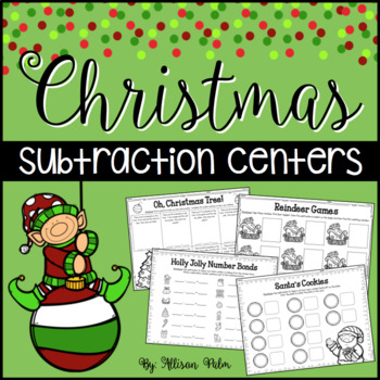Christmas Subtraction Math Center {Freebie}