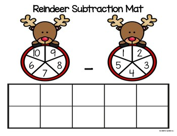 Christmas Subtraction Mats