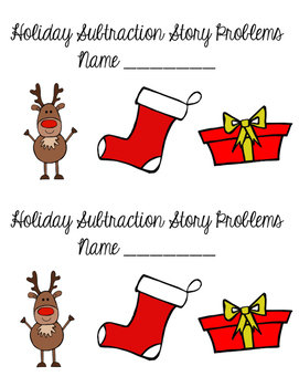 Holiday Subtraction Problems