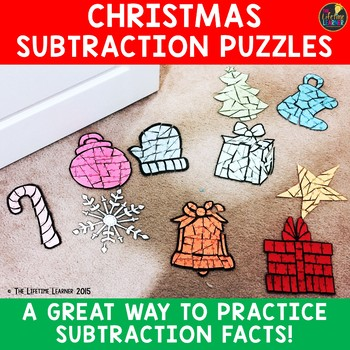 Christmas Subtraction Puzzles (Numbers Within 10)
