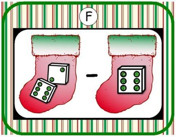 Christmas Subtraction {Subitizing with Dice}