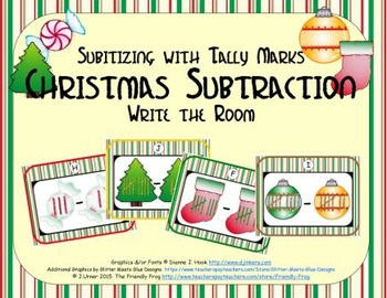 Christmas Subtraction {Subitizing with Tally Marks}