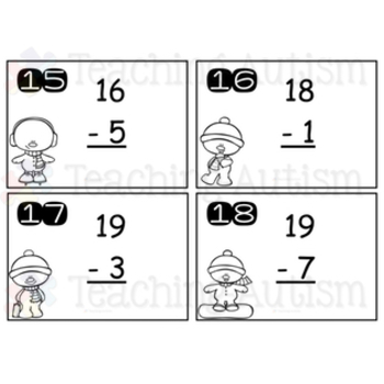 Christmas Subtraction Task Cards
