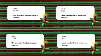 Christmas Subtraction Task Cards- DIFFERENTIATED!!