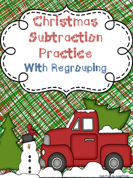 Christmas Subtraction With Regrouping
