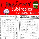 Christmas Subtraction Worksheets