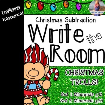 Christmas Subtraction Write the Room *FREEBIE*