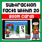 Christmas Subtraction within 20 Boom Cards | Distance Learning