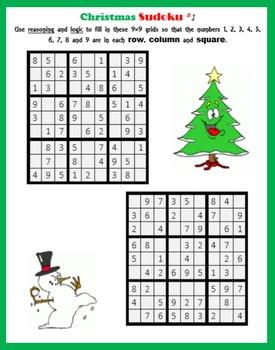 photograph about Christmas Sudoku Printable referred to as Xmas Sudoku