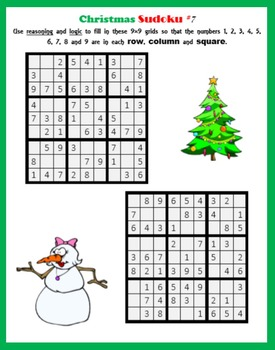 Christmas Sudoku.Sudoku On Christmas Logic And Reasoning