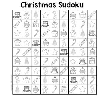 Christmas Sudoku - Google Slide Activity