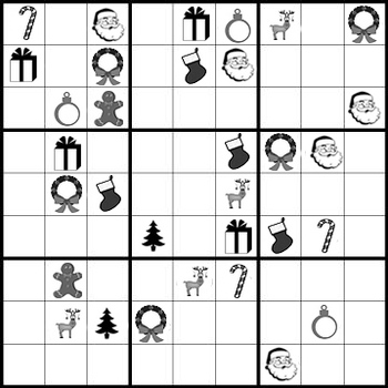 It's just a graphic of Striking Christmas Sudoku Printable