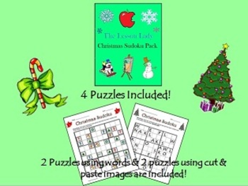 Christmas Sudoku for Kids - 9x9 Puzzles