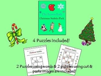 Christmas Sudoku for Kids - Easy 4x4