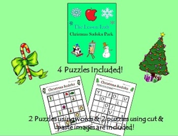 Christmas Sudoku for Kids - Medium 6x6