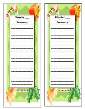 Christmas Summary Bookmark