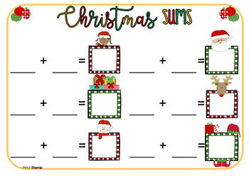 Christmas Sums- Addition, Subtraction, Multiplication & Division
