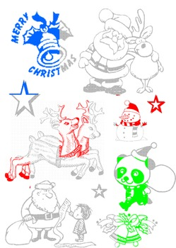 Christmas Sums Game: Addition, Subtraction, Doubles Colouring Activity