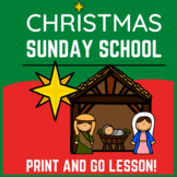 Christmas Sunday School Lesson | Nativity Lesson and Activities