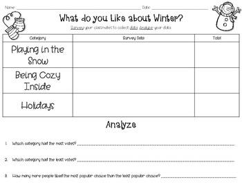 Christmas Surveys: First Grade Data