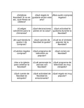 Christmas Surveys SPANISH