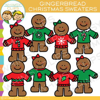 Christmas Sweater Gingerbread Clip Art