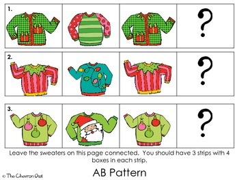 Christmas Sweater Pattern Practice