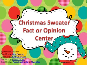 Christmas Sweater Theme-Fact Or Opinion Center