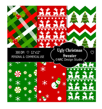 Christmas Sweaters Paper Pack