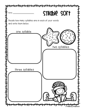 No Prep Christmas Sweet Tooth - Word Study / Spelling / Sight Words