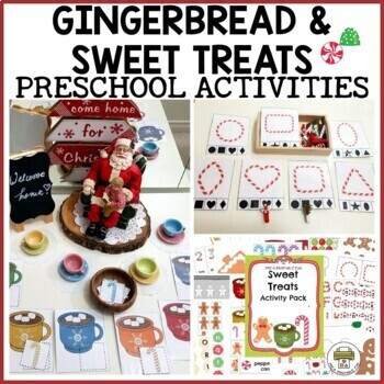 Christmas Sweet Treat Activities for Preschool, Pre-K and Tots