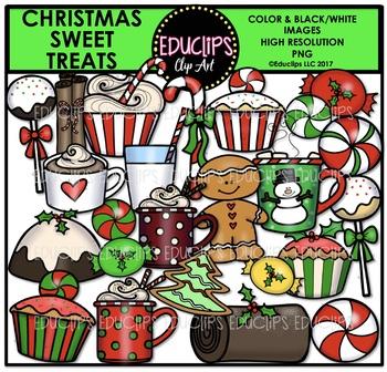 Christmas Sweet Treats Clip Art Bundle {Educlips Clipart}
