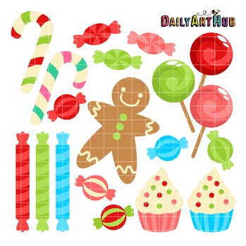 Christmas Sweets Clip Art - Great for Art Class Projects!