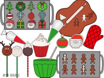Christmas Sweets- Digital Clip Art Set