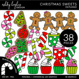 Christmas Sweets Outlined Clipart [Ashley Hughes Design]