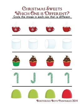 Christmas Sweets PreK Mini Printable Thematic Learning Pack