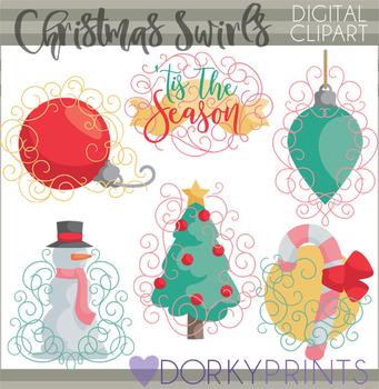 Christmas Swirls Clipart