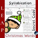 Christmas Word Reading - Syllabication - Multi-syllable *S
