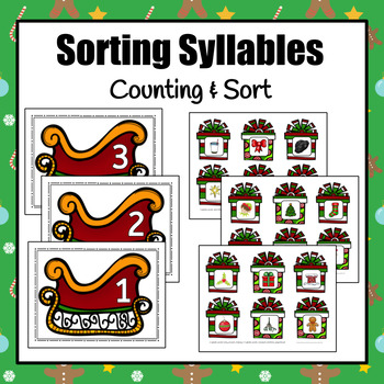 Christmas Syllable Activities
