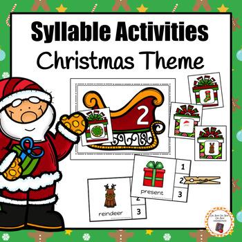 Christmas Syllable Activities