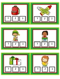 Christmas Syllable Clip Cards (Color and Printer-Friendly)