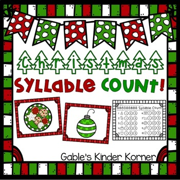 Christmas Syllable Count