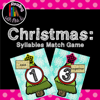 Christmas Syllable Match Game