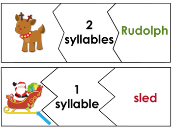 Christmas Syllable Puzzles