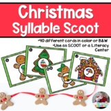Christmas Syllable Scoot or Literacy Center