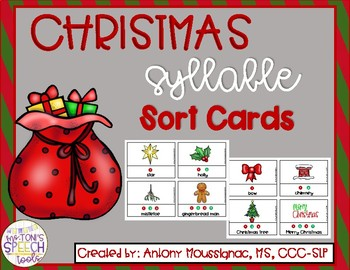 Christmas Syllable Sort Cards
