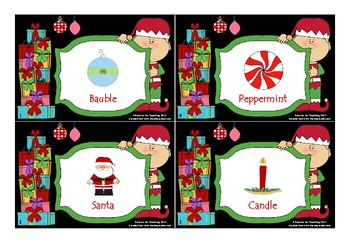 Christmas Syllables Card Game